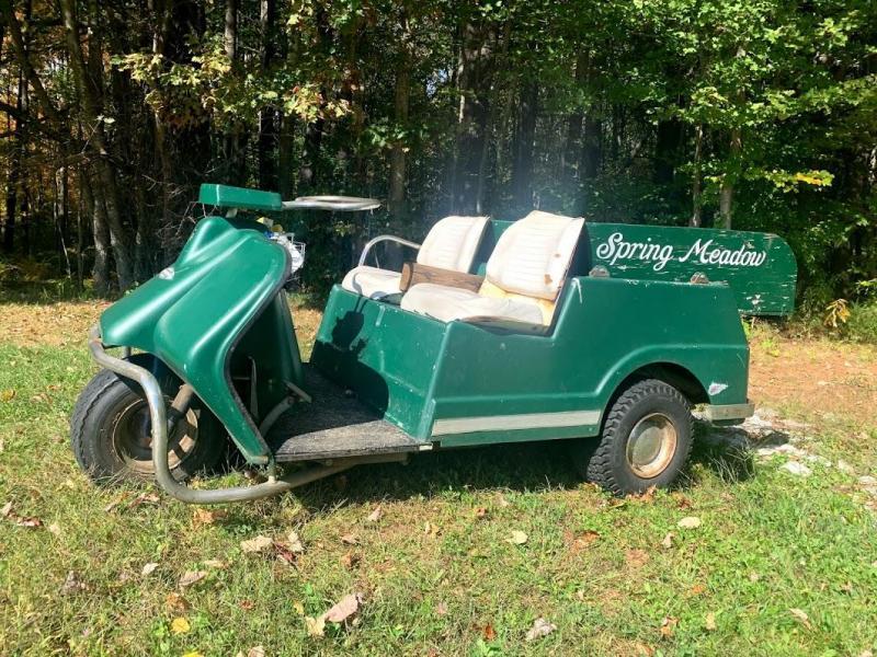 Vintage Harley Davidson Harley Davidson 3 wheel Golf Cart-GAS