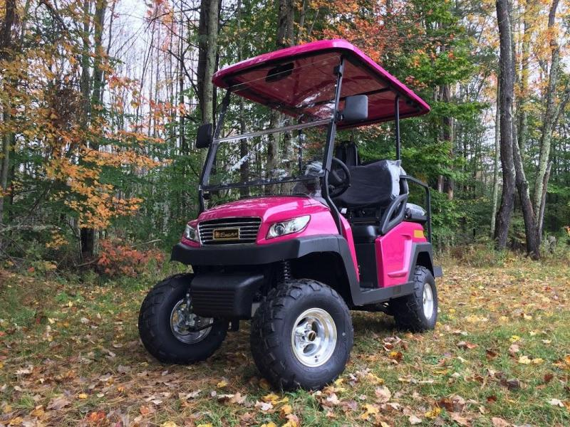 Sale!2018 EXCAR Luxury Golf car 4 pass elec HOT PINK 2 yr wrnty 25MPH