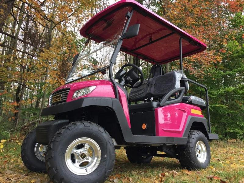 Sale! 2018 EXCAR Luxury Golf car 4 pass elec HOT PINK 2 yr wrnty 25MPH