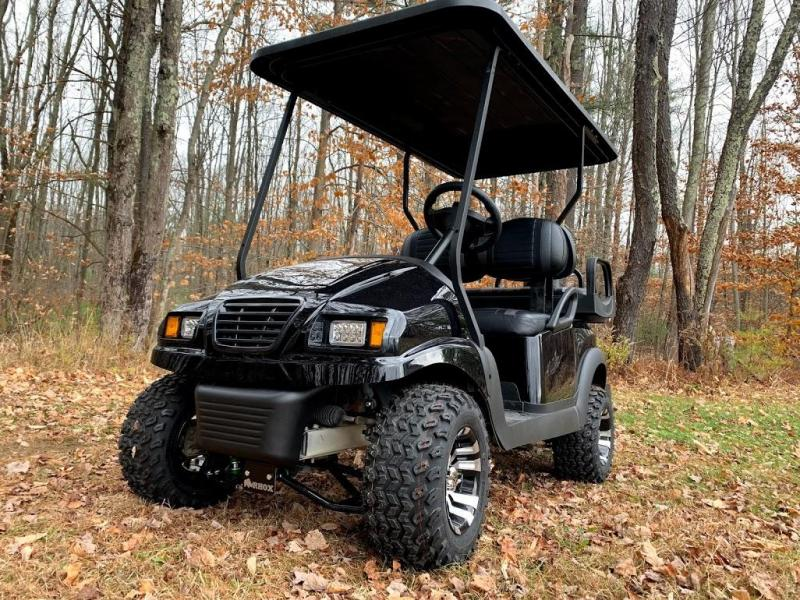 CUSTOM Precedent Metallic BlackPhantom ELEC 4PASS Golf Car LIFTED