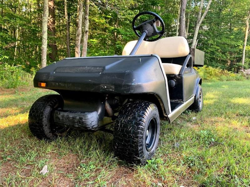 2003 Club Car DS GAS 2 Passenger Golf Car with utility box