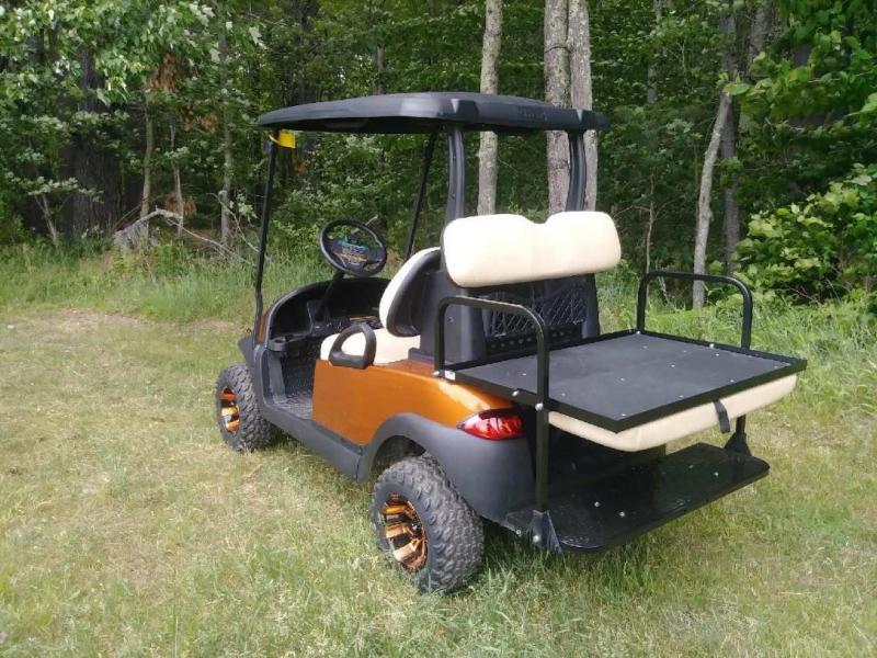 Metallic Atomic Orange Club Car Precedent 4 pass elec golf cart w/warranty
