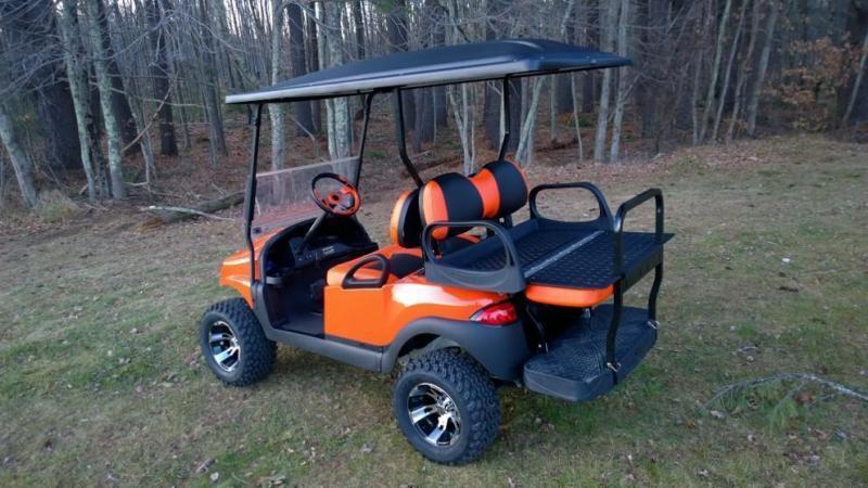 CUSTOM Precedent Metallic Harley Colors Phantom ELEC 4PASS Golf Cart