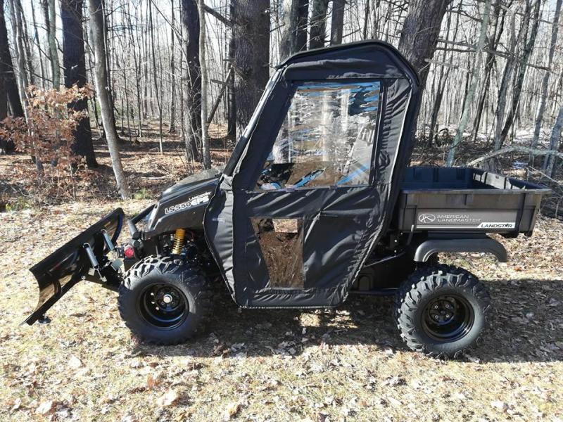 $2000 OFF American LandMaster 550 PLOW-PWR STEER-ENCLOSURE-ENDS OCT 31 BLACK