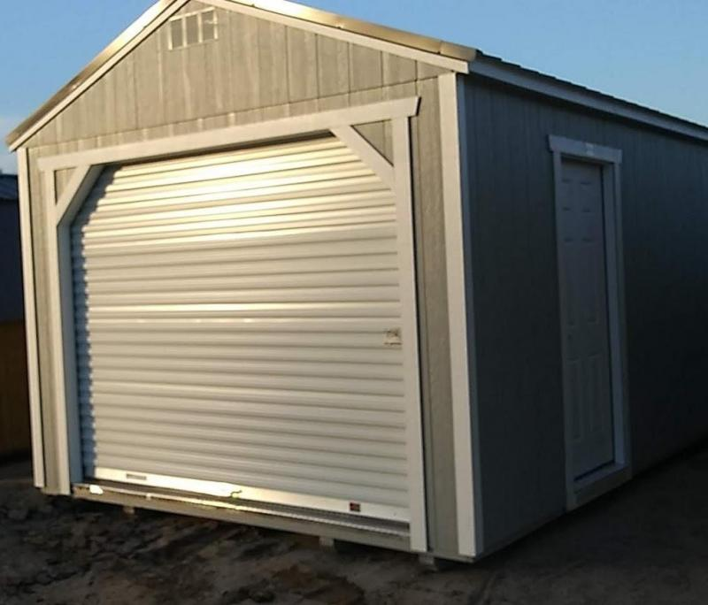 Brand New Old Hickory Garage 12' x 24' Gary w/Charcoal Steel Roof