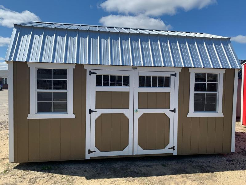 Brand NEW Old Hickory Lofted Barn 10 X 16 Buckskin w/Silver roof