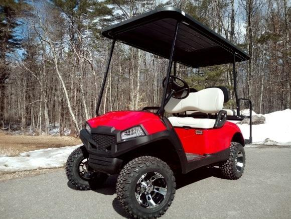 Yamaha Drive GAS 4 pass CUSTOM golf car LIFTED RED HAVOC body-NICE!!