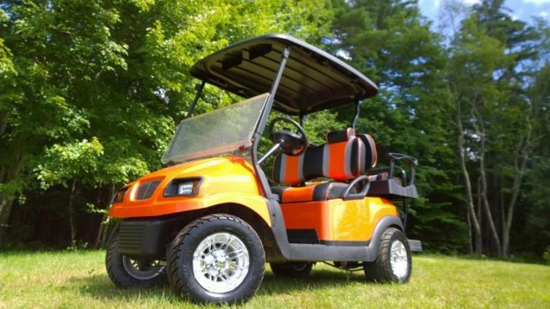 Custom Club Car Precedent Metallic Orange Phantom 4 pass LO PRO!!