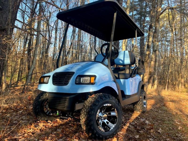 CUSTOM Precedent SKY BLUE Phantom ELEC 4PASS Golf Car LIFTED