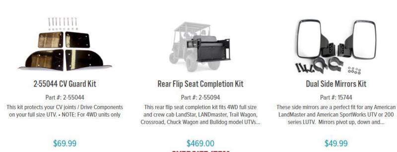 American Land Master CREW4X EFI 4WD 4 pass CREW CAB