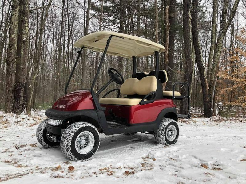 Club Car Precedent Candy Apple Metallic 4 pass golf cart LIFTED/CUSTOMIZE YOURS AND SAVE