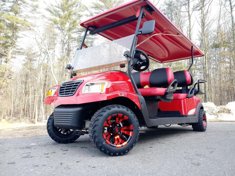 "CUSTOM Club Car Precedent Metallic RED Phantom 6 pass ELECTRIC LIMO 4"" LIFT"