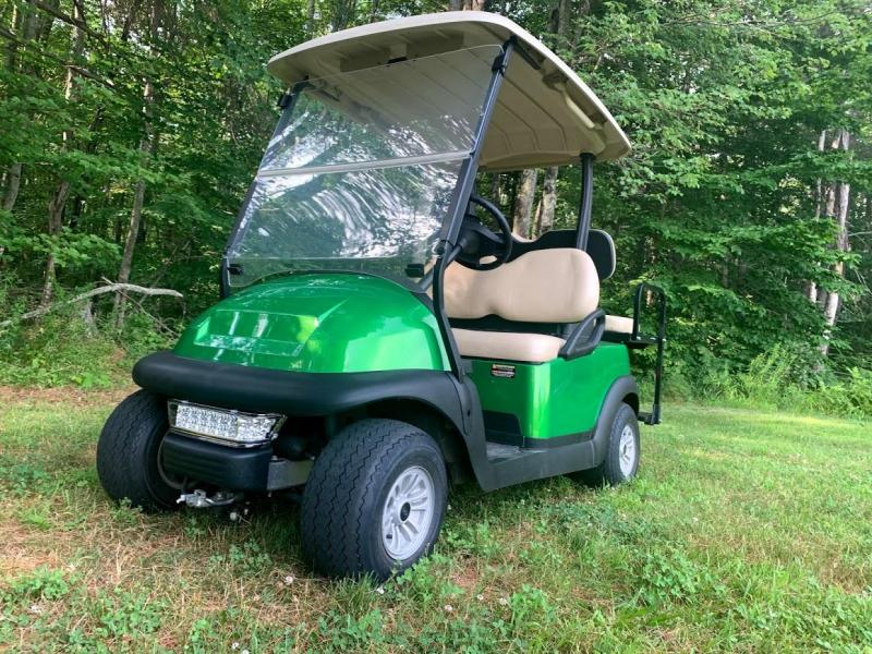 Lime Green Metallic Club Car Electric 4 Pass Golf Cart 2017 BATTERY