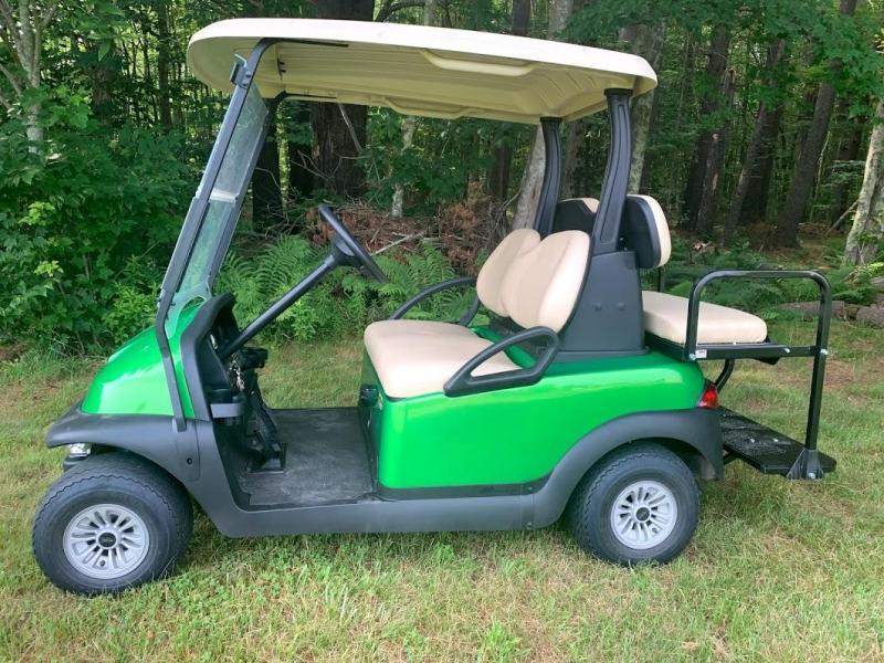 Lime Green Metallic Club Car Electric 4 Pass Golf Cart 2017 BATTERY