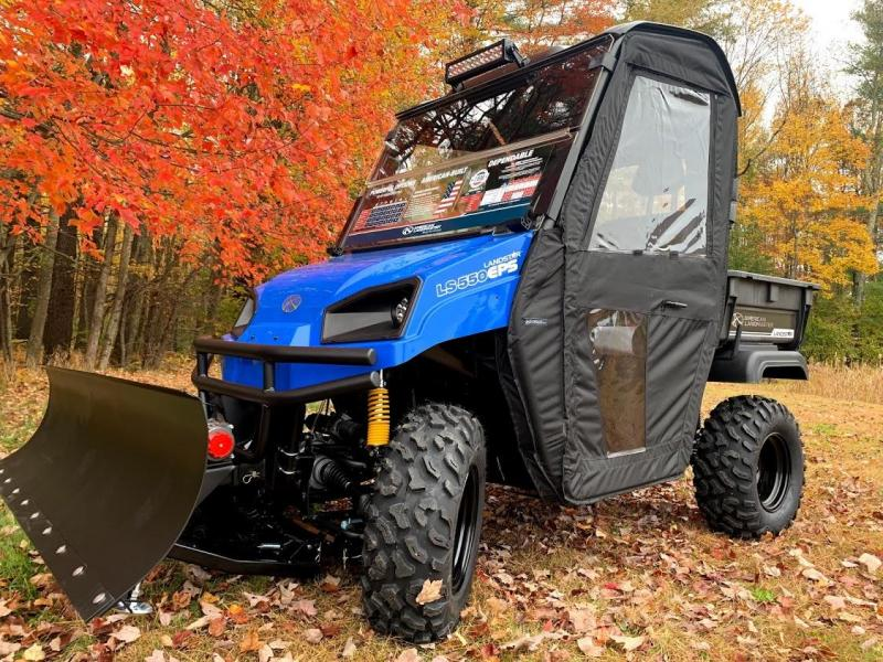 $2000 OFF American LandMaster 550 PLOW-PWR STEER-ENCLOSURE-ENDS NOV 30 BLUE