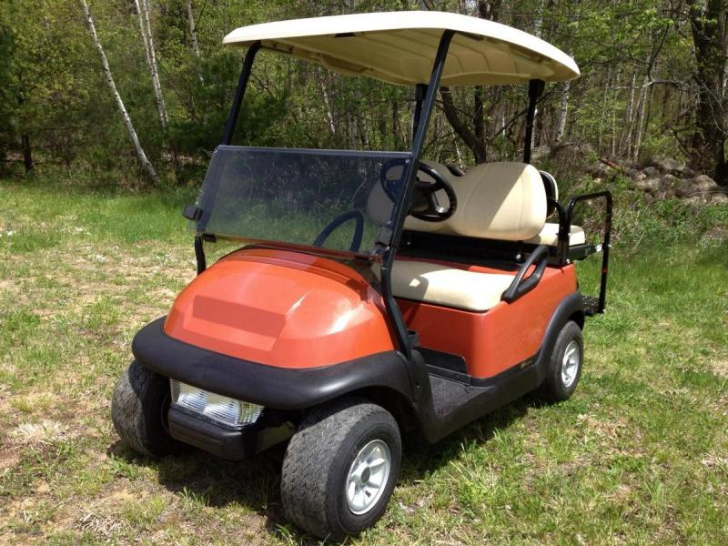 PRE-Summer Special! Club Car Precedent BRICK RED 4 Pass Elect Golf Car