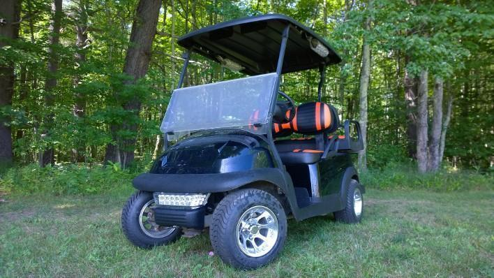 Club Car Precedent Custom Gloss Black High End 4 pass Electric