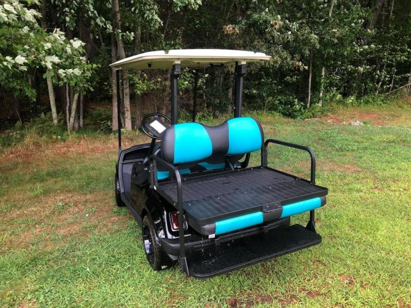 NICE!!Customized Black and Teal Yamaha GAS Drive 4 Passenger Golf Cart