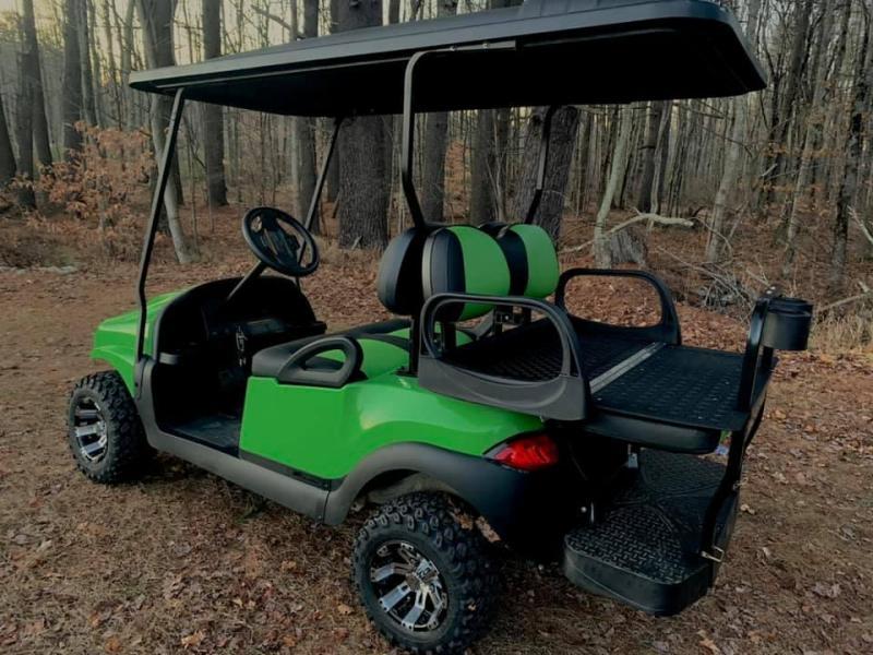 CUSTOM Precedent LIME GREEN Phantom ELEC 4PASS Golf Car LIFTED