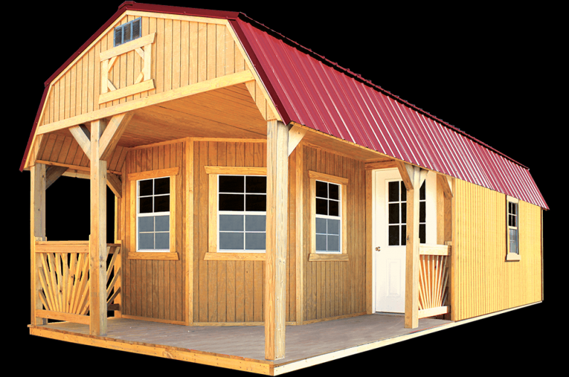 2020 Old Hickory Deluxe Playhouse Lofted Utility Barn