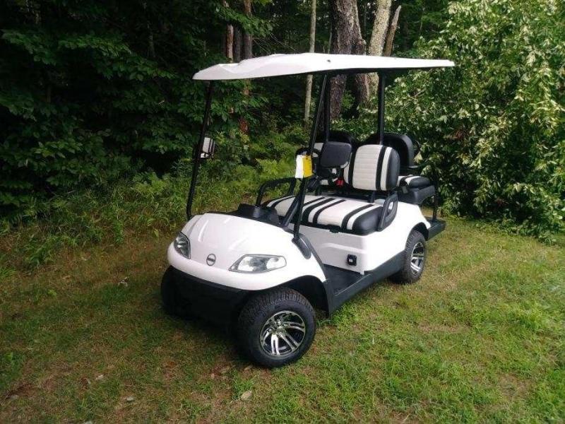 Advanced EV 4 pass 25 MPH White Electric golf cart-2 year warranty