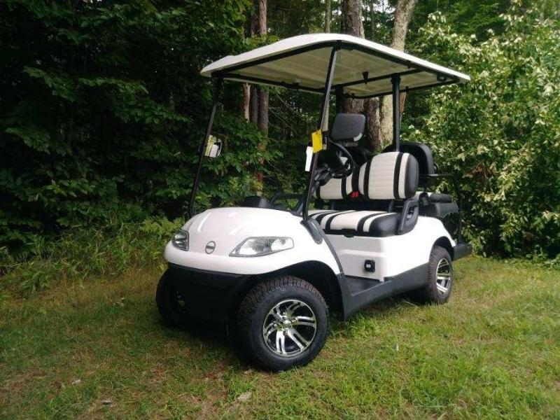 Advanced EV 4 pass 25 MPH White Electric golf cart-2 year warranty