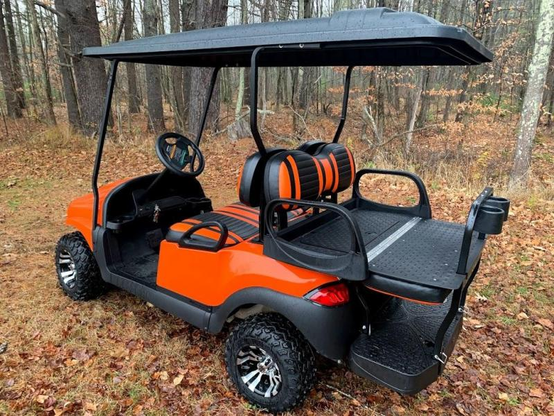 CUSTOM Precedent HARLEY ORANGE Phantom ELEC 4PASS Golf Car LIFTED