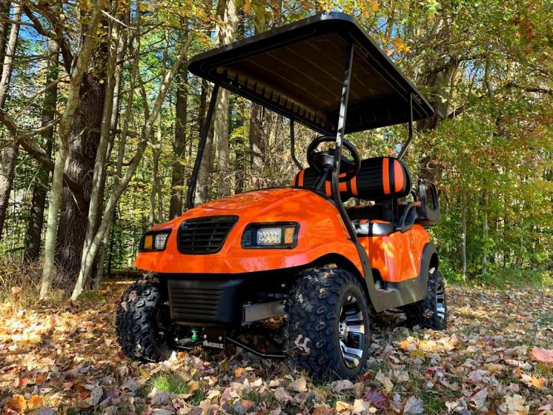 2016 CUSTOM Precedent HARLEY ORANGE Phantom ELEC 4PASS Golf Car LIFTED