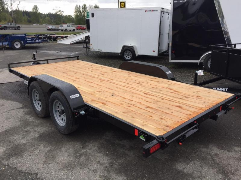 Summit 7' x 16' A4FB716TA2 Alpine Flatbed Trailer