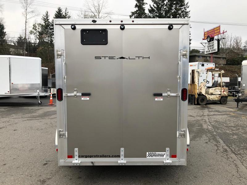 2020 Alcom-Stealth 6' X 10' V-Front Stealth Cargo Enclosed Cargo Trailer