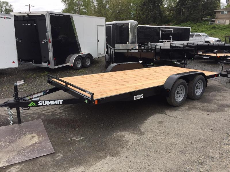 2020 Summit 7' x 18' A4FB718TA2 Alpine Flatbed Trailer