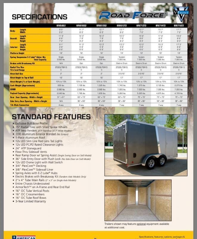 Wells Cargo Road Force V-Nose 6' x 10' Enclosed Cargo Trailer