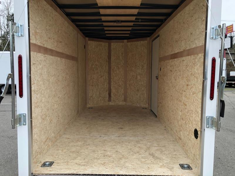 2020 Wells Cargo 6' x 12' V-Nose Road Force Enclosed Cargo Trailer