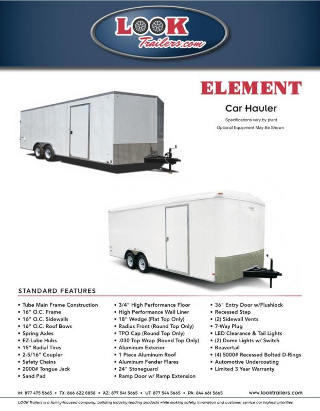 2020 Look Trailers 8.5' X 24' EWLF85X24TE3 Car / Racing Trailer