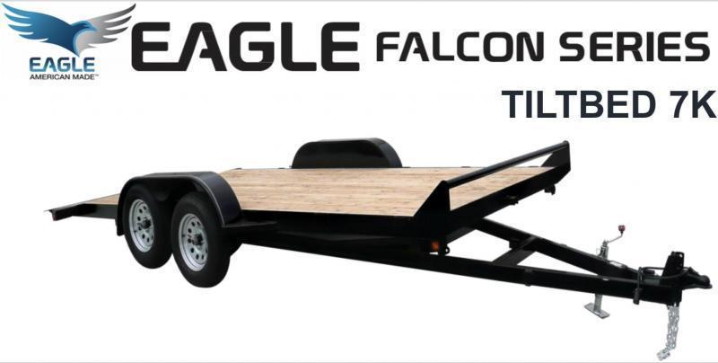 Eagle Trailer 7' X 18' Falcon Tiltbed Flatbed Trailer