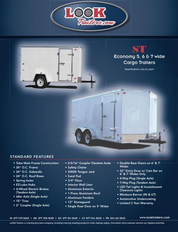 2021 Look Trailers  5' X 8' ST V-Nose Enclosed Cargo Trailer