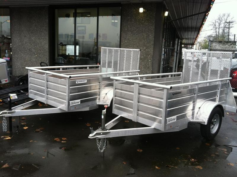 20120 Eagle Trailer 5' X 10' Silver Eagle Utility Utility Trailer