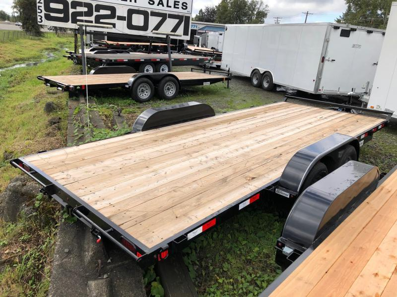 7' x 18' E4FB718TA2 Eagle Flatbed Trailer