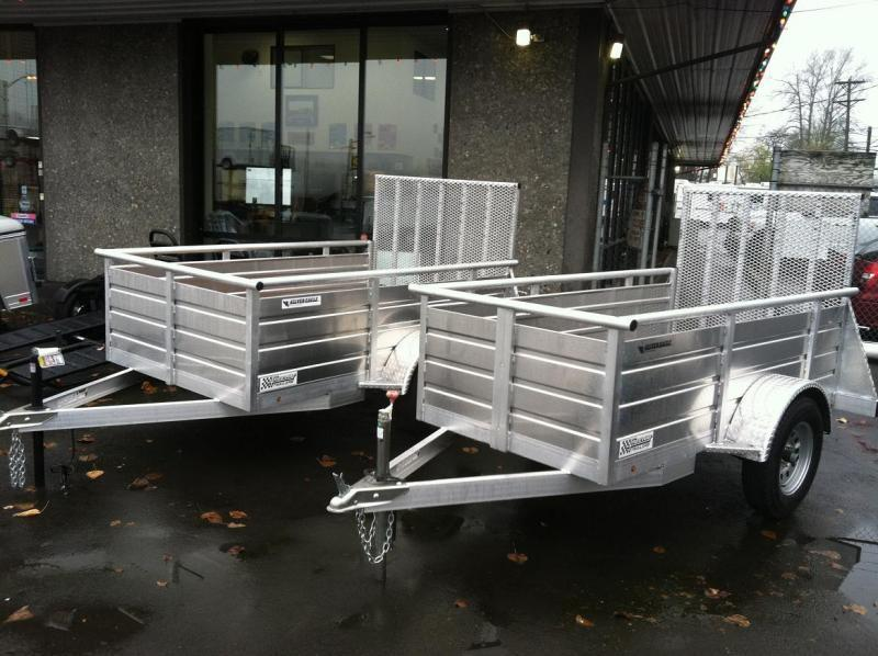 20120 Eagle Trailer 5' X 8' Silver Eagle Utility Utility Trailer