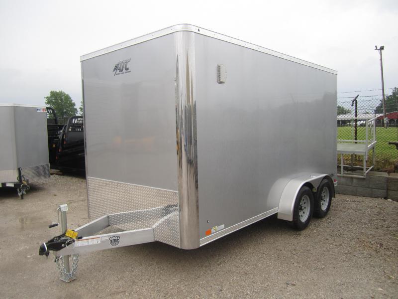 Aluminum Trailer Company 7X14 ATC RAMP DOOR Enclosed Cargo Trailer