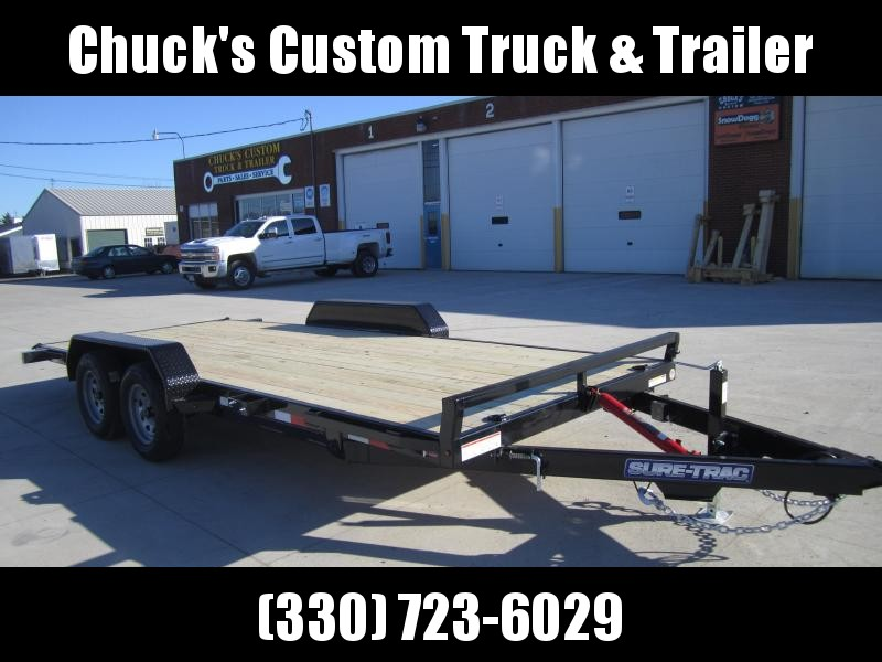 2020 Sure-Trac 7 x 18 Tilt Bed Car Hauler 7k