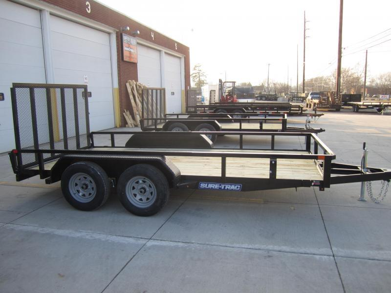 Sure-Trac 7 X 14 Tube Top Utility  7k Tandem