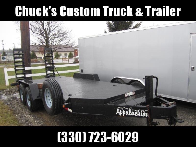 2017 Appalachian 7'X20' STEEL DECK EQUIPMENT Equipment Trailer