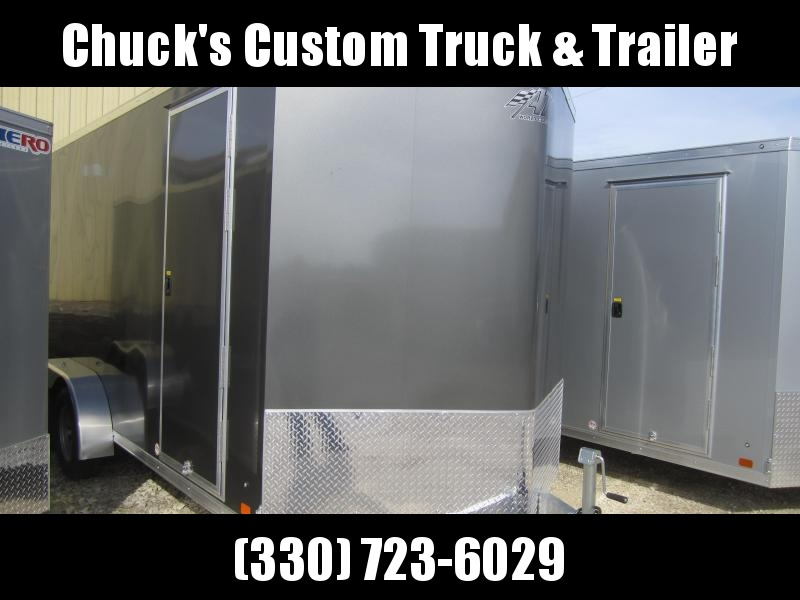 2020 Aluminum Trailer Company 7X16 ATC RAMP DOOR Enclosed Cargo Trailer
