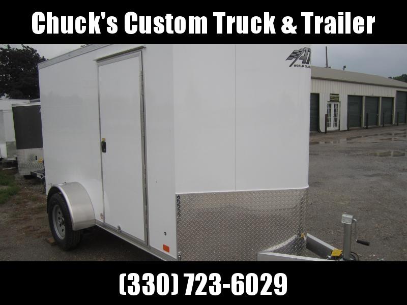 2019 Aluminum Trailer Company 6X10 ALUMINUM RAMP DOOR Enclosed Cargo Trailer