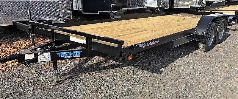2020 Top Hat Trailers 7x18 CarHauler w/Wood Deck 7k