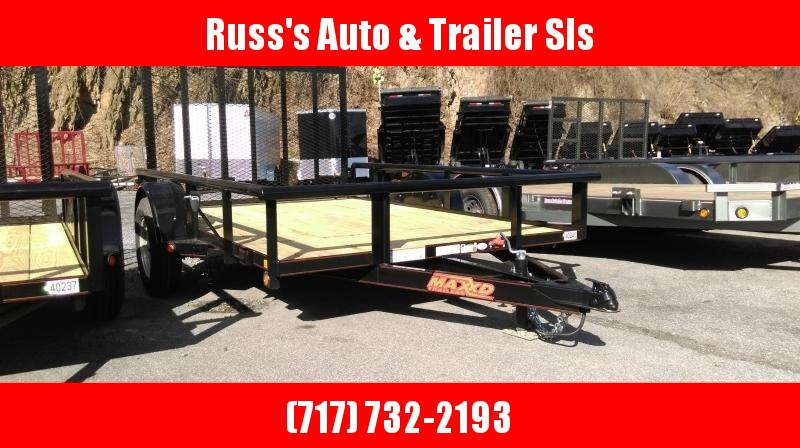 2018 MAXXD 6.5X10 Utility Trailer w/Ramp Gate Pipe Rail