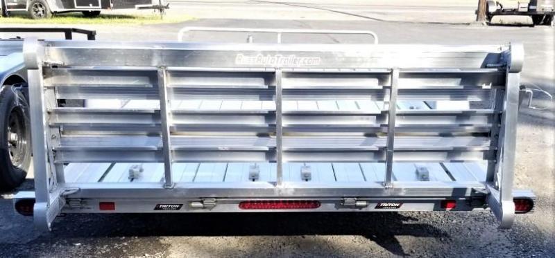 2020 7 x 14 Triton Trailers AUT1482 ATV Trailer All Aluminum
