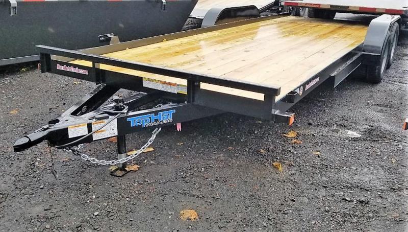 2020 Top Hat Trailers 7x20 CarHauler w/Wood Deck 7k