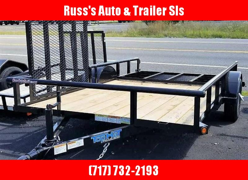 2019 Top Hat 7x12  Utility Trailer Pipe Rail
